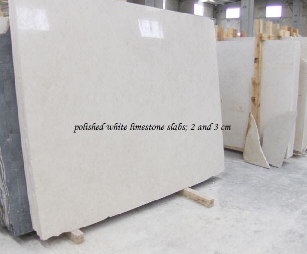 honed white limestone tiles