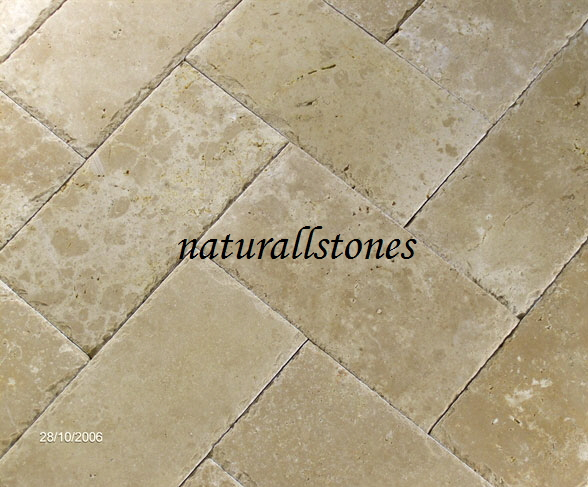 honed & chiselled edge ivory pavers