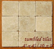 tumbled travertine